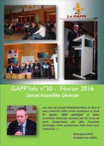 GAPP'Info spécial AG 2016